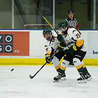 1st year forward Ireland South (25) of the Regina Cougars in action during the Women's Hockey home game on October 13 at Co-operators arena. Credit: Arthur Ward/Arthur Images
