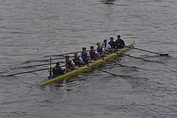 March 24, 2018 - London, United Kingdom - Oxford University Boat Club blue crew are pictured at the start of The Cancer Research UK Boat Race, London on March 24, 2018. Cambridge were victorious in both The Cancer Research UK Women's Boat Race 2018 and The Cancer Research UK Men's Boat Race 2018. (Credit Image: © Alberto Pezzali/NurPhoto via ZUMA Press)