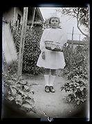young girl in garden France 1926
