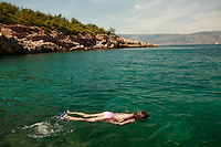 Bay on the Dalmatian Coast of Croatia, near Vbroska, Hvar Island