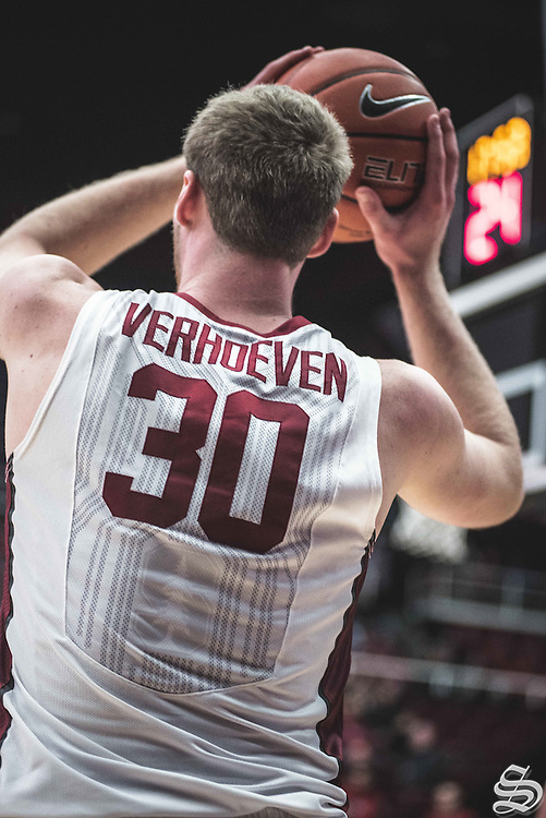 Grant Verhoeven #30 vs. Washington State on January 12, 2017 at Maples Pavilion in Stanford, CA. Photo by Ryan Jae.