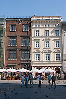 Buildings on the main market square in Krakow Poland