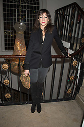 LEAH WOOD at a gala dinner to celebrate 15 Years of mothers2mothers hosted by Annie Lennox held at One Marylebone, 1 Marylebone Road, London NW1on 3rd November 2015.