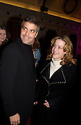 "George Clooney and Gillian Anderson, Harpers and Queen and Twentieth Century Fox host a  charity screening in aid of 'Facing the World"" ( plastic surgery for children in the world's poorest countries)  and supper for Solaris. Electric Cinema, Notting Hill.  © Copyright Photograph by Dafydd Jones 66 Stockwell Park Rd. London SW9 0DA Tel 020 7733 0108 www.dafjones.com"