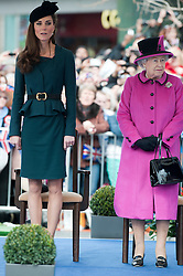 The Duchess of Cambridge and H.M. The Queen visiting Leicester as part of the Queen's Diamond jubilee tour, Thursday March 8, 2012. Photo by i-Images