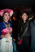 SARAH ARNOLD; JESS JOBST, Puma/ Hussein Chalayan Retrospective Exhibition. Design Museum, London. 21 January 2009. *** Local Caption *** -DO NOT ARCHIVE-© Copyright Photograph by Dafydd Jones. 248 Clapham Rd. London SW9 0PZ. Tel 0207 820 0771. www.dafjones.com.<br /> SARAH ARNOLD; JESS JOBST, Puma/ Hussein Chalayan Retrospective Exhibition. Design Museum, London. 21 January 2009.