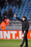 FOOTBALL - FRENCH LEAGUE CUP 2009/2010 - 1/8 FINAL - 13/01/2010 - LILLE OSC v STADE RENNAIS -  PHOTO GUY JEFFROY / DPPI - JOY RUDI GARCIA (LILLE COACH) AT THE END OF MATCH