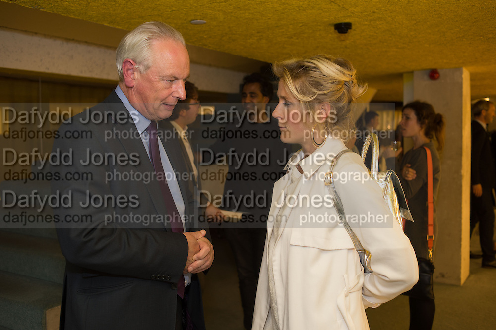 FRANCIS MAUDE; MARTHA LANE FOX, Launch of ' More Human',  Designing a World Where People Come First' by Steve Hilton. Party held at Second Home in Princelet St, off Brick Lane, London. 19 May 2015.