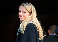 10-12-2014 AMSTERDAM -   Princess Mabel Arrive at the Dam palace in Amsterdam for the Prince Claus prize 2014 COPYRIGHT ROBIN UTRECHT