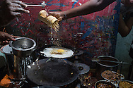 Making dosa in Madurai, Tamil Nadu, India