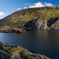 The rugged landscape at Franklin Bay on Isla de los Estados, Argentina.