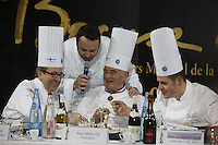 Daniel Boulud, Paul Bocuse at the Bocuse d'Or..Owen Franken for the NY Times..January 27, 2009