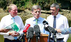 Auckland-PM Bill English announces new water standards policy
