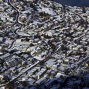 Queenstown covered in snow after the biggest snow storm in New Zealand in the past 50 years. Queenstown, New Zealand, 16th August 2011. Photo Tim Clayton
