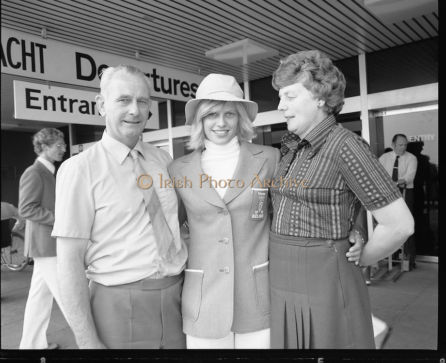 Olympic Team Leaves Dublin Airport.05/07/1976 for montreal