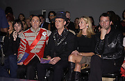 Terry Hart, Boy George, Joely Richardson and James Purefoy. Julian Macdonald fashion show. Science Museum. London. 20 September 2001. © Copyright Photograph by Dafydd Jones 66 Stockwell Park Rd. London SW9 0DA Tel 020 7733 0108 www.dafjones.com