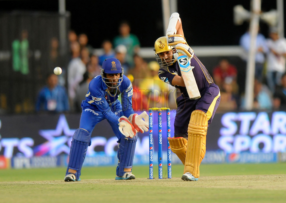 Robin Uthappa of the Kolkata Knight Riders bats during match 25 of the Pepsi Indian Premier League Season 2014 between the Rajasthan Royals and the Kolkata Knight Riders held at the Sardar Patel Stadium, Ahmedabad, India on the 5th May  2014<br /> <br /> Photo by Pal Pillai / IPL / SPORTZPICS      <br /> <br /> <br /> <br /> Image use subject to terms and conditions which can be found here:  http://sportzpics.photoshelter.com/gallery/Pepsi-IPL-Image-terms-and-conditions/G00004VW1IVJ.gB0/C0000TScjhBM6ikg
