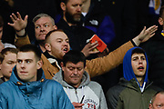 Leeds United fans during the FA Youth Cup match between U18 Manchester United and U18 Leeds United at Old Trafford, Manchester, England on 5 February 2020.