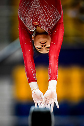 October 28, 2018 - Doha, Quatar - Yile Chen of  China   during  Balancing Beam qualification at the Aspire Dome in Doha, Qatar, Artistic FIG Gymnastics World Championships on 28 of October 2018. (Credit Image: © Ulrik Pedersen/NurPhoto via ZUMA Press)