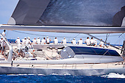 Ghost sailing in the 2010 St. Barth's Bucket superyacht regatta, race 2.