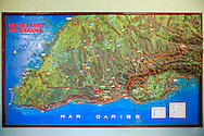 Map at Portada de la Libertad, Granma, Cuba.