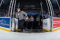 KELOWNA, CANADA - FEBRUARY 17: Young BC Hockey officials enter the ice at the Kelowna Rockets against the Edmonton Oil Kings  on February 17, 2018 at Prospera Place in Kelowna, British Columbia, Canada.  (Photo by Marissa Baecker/Shoot the Breeze)  *** Local Caption ***