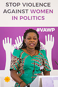 Dorothy Nalubega (President, East African Greens Federation-Women's Network, Uganda) Session 6: THE CIVIL SOCIETY PERSPECTIVE ON VAW IN POLITICS 'Violence Against Women in Politics' Conference, organised by all the UK political parties in partnership with the Westminster Foundation for Democracy, 19th and 20th of March 2018, central London, UK.  (Please credit any image use with: © Andy Aitchison / WFD