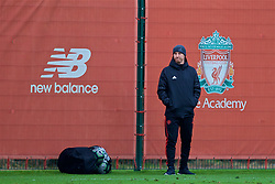 KIRKBY, ENGLAND - Saturday, January 26, 2019: Manchester United's Nicky Butt during the FA Premier League match between Liverpool FC and Manchester United FC at The Academy. (Pic by David Rawcliffe/Propaganda)