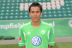 12.07.2011, Volkswagen Arena, Wolfsburg, GER, 1.FBL,  VfL Wolfsburg, Spielervorstellung im Bild  Makoto Hasebe #13 Spieler beim VfL Wolfsburg in der Saison 2011/2012 // during the player praesentation in Wolfsburg 2011/07/12.     EXPA Pictures © 2011, PhotoCredit: EXPA/ nph/  Rust       ****** out of GER / CRO  / BEL ******