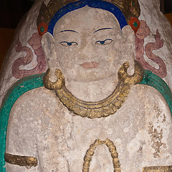 Buddhist statues and paintings can be found all over Ladakh.