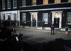 © under license to London News Pictures. LONDON. 05/05/2011. One year on since the last General Election. FILE PICTURE DATED. 11/05/10. David Cameron moments before he makes a speech telling the media he has accepted Queen Elizabeth II's invitation to form a new Government. British Prime Minister Gordon Brown has resigned his position and David Cameron has become the new British Prime Minister on May 11, 2010. The Conservative and Liberal Democrats are to form a coalition government after five days of negotiation. Photo credit should read Stephen Simpson/LNP