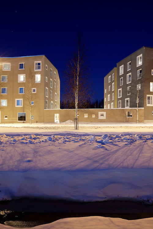 Viikki HOAS student housing in Helsinki, Finland designed by Playa architects.