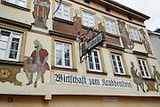 Altes Gasthaus Zum Krabbenstein, Eberbach, Neckar, Odenwald, Naturpark Bergstraße-Odenwald, Baden-Württemberg, Deutschland | historical pub, Eberbach, Neckar, Odenwald, Baden-Wuerttemberg, Germany