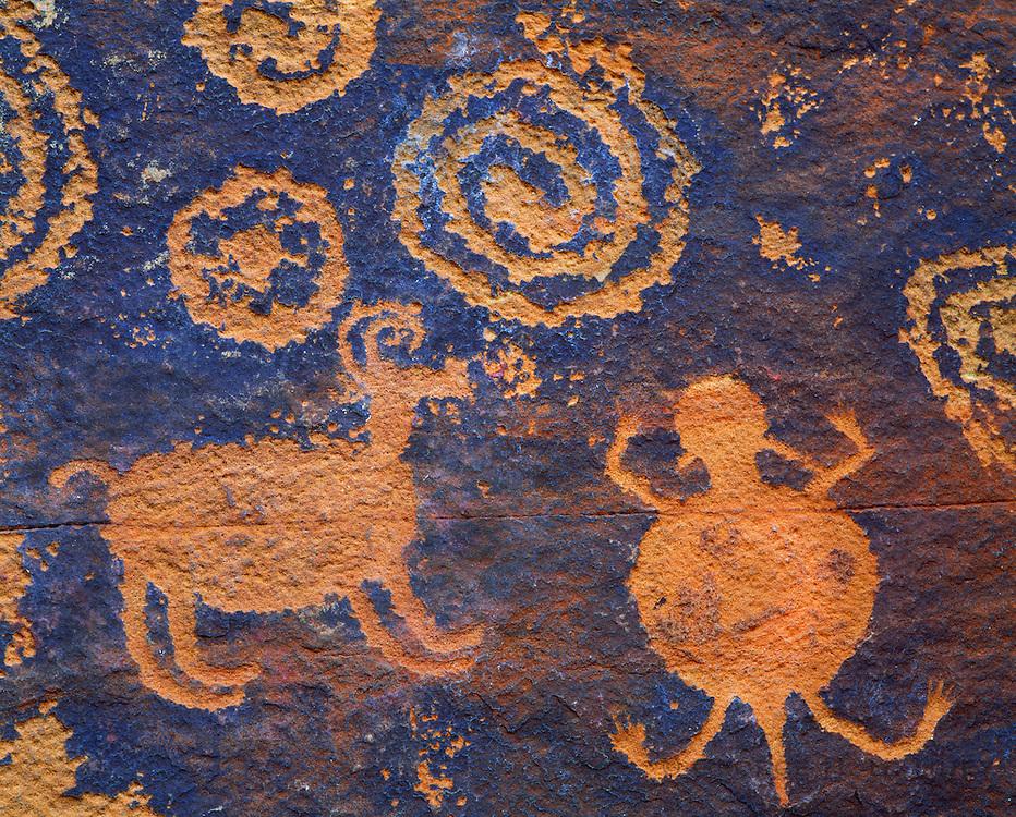 0142-1040 ~ Copyright:  George H. H. Huey ~ Sinagua culture petroglyph, near Montezuma Well. Coconino National Forest, Arizona.