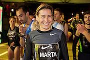 Marta DomÌnguez at start line