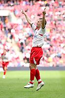 Fotball<br /> England<br /> Foto: Colorsport/Digitalsport<br /> NORWAY ONLY<br /> <br /> Lee Boylan (Stevenage Borough) celebrates scoring<br /> Stevenage Borough vs York City <br /> Carlsberg FA Trophy Final at Wembley Stadium 2/05/2009