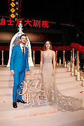 "SHANGHAI, CHINA - FEBRUARY 27: <br /> <br /> British actor Dan Stevens and British actress Emma Watson attend the premiere of American director Bill Condon\'s film ""Beauty and the Beast\"" at Walt Disney Theatre on February 27, 2017 in Shanghai, China.<br /> ©Exclusivepix Media"