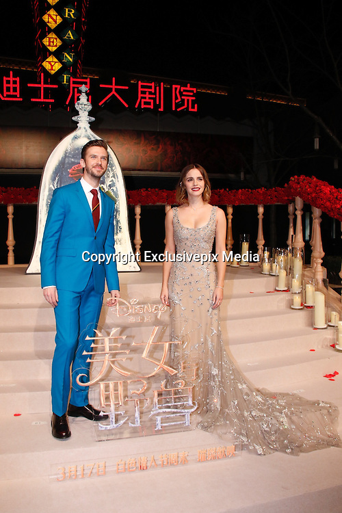 SHANGHAI, CHINA - FEBRUARY 27: <br /> <br /> British actor Dan Stevens and British actress Emma Watson attend the premiere of American director Bill Condon\'s film \&quot;Beauty and the Beast\&quot; at Walt Disney Theatre on February 27, 2017 in Shanghai, China.<br /> &copy;Exclusivepix Media
