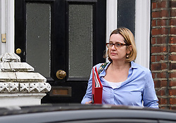 © Licensed to London News Pictures. 29/04/2018. London, UK. Home Secretary AMBER RUDD seen leaving her London home on April 29, 2018. There have been calls for the Home Secretary to resign over governments handling of the Windrush citizens. Photo credit: Ben Cawthra/LNP