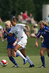 Virginia Cavaliers F Jess Rostedt (12)..The Virginia Cavaliers Women's Soccer Team fell to Seton Hall University 1-0 on September 10, 2006 at Klöckner Stadium in Charlottesville, VA...