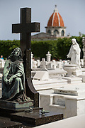 Tombstones at the Necropolis Cristobal Colon cemetery in Havana, Cuba on Saturday June 28, 2008.