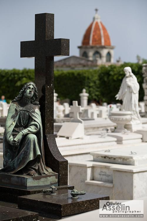 Tombstones at the Necropolis Cristobal Colon cemetery in Havana, Cuba on Saturday June 28, 2008.
