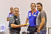 Stefano Sacripanti, Federico Pasquini<br /> Banco di Sardegna Dinamo Sassari - Sidigas Scandone Avellino<br /> Precampionato 2016/2017<br /> Padru 07/09/2016<br /> Foto Ciamillo-Castoria
