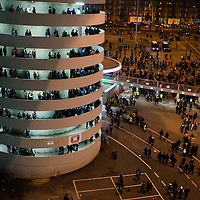 MILAN, FEBRUARY 26: supporters exit Meazza Stadium after the Italian Championship soccer game, AC Milan - Juventus on february 26, 2012 in Milan