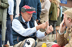 Mike Self at Young Guns raising money for the fight against breast cancer trough Cancer Research UK held at EJ Churchill Shooting School followed by lunch at West Wycombe Park, England. 23 September 2017.