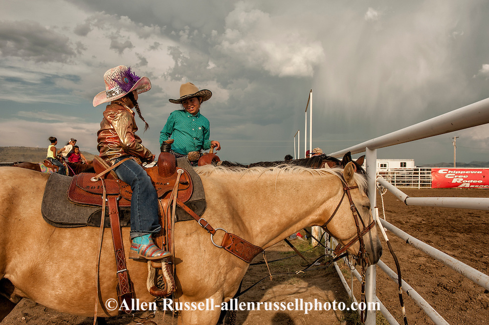 Rocky Boy Rodeo, kids, Indians, friends, Rocky Boy Reservation, Montana, Martay Rosette, Chippewa Cree, Kenzie Kellenberger, Gros Ventre