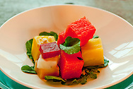 Watermelon and roast beet salad