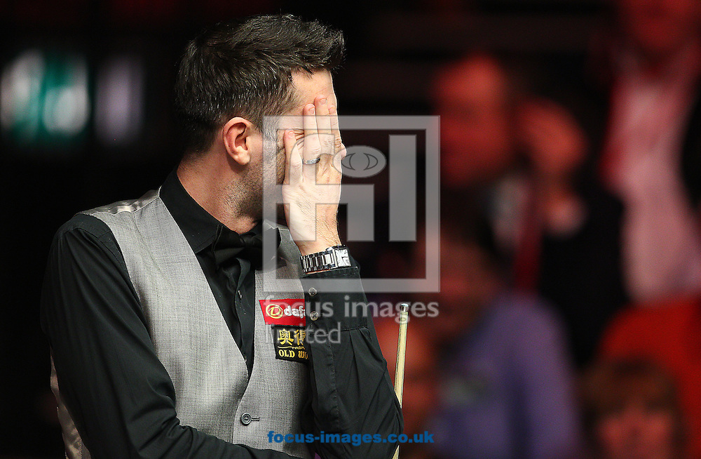 Picture by Paul Terry/Focus Images Ltd +44 7545 642257<br /> 19/01/2014<br /> Mark Selby reacts during The Masters final at Alexandra Palace, London.