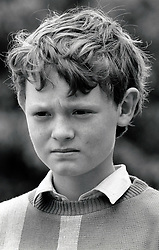 Portrait of small boy UK 1987