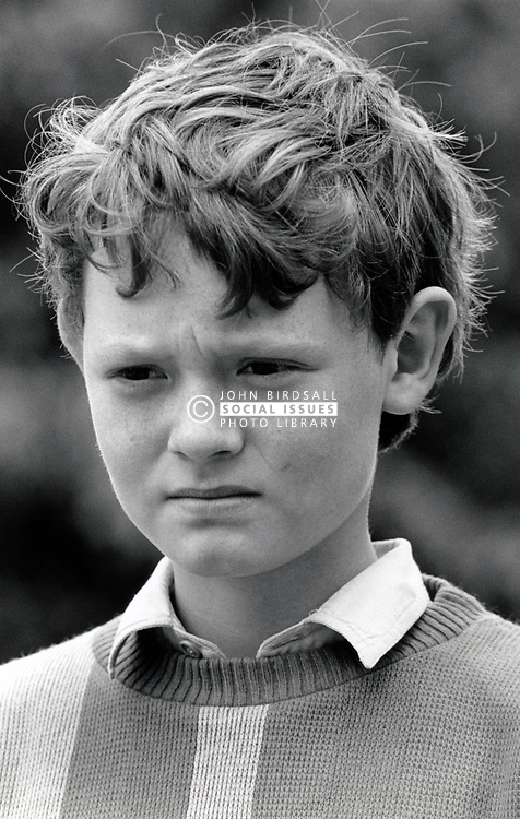 Portrait of small boy UK 1987